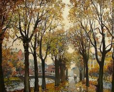 Artist Anatoly Lukash . Autumn in St. Petersburg