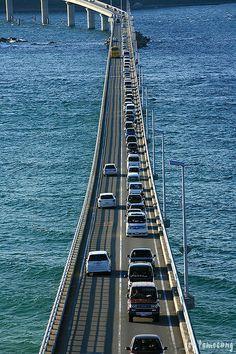 Tsunoshima Bridge, Yamaguchi , Japan