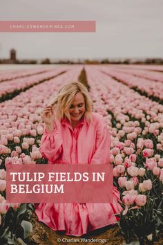 Find the best place to see tulips in Belgium including a map of the exact location. If you want Belgium in spring, you can't miss the tulip fields in Belgium for magical photos. The Belgium tulips deserve a spot on your Belgium bucket list for spring. | tulip fields europe | flower fields in europe | flower fields in Belgium | tulip fields photoshoot | tulip fields instagram Belgium Map, Tulip Season, Most Beautiful, Beautiful Places, Tulip Fields, Top Travel Destinations, Short Break, Travel Photographer, Long Weekend