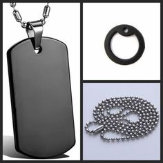 Hot army military dog tag ball bead #chain #necklace mens #stainless steel pendan,  View more on the LINK: 	http://www.zeppy.io/product/gb/2/171865474867/