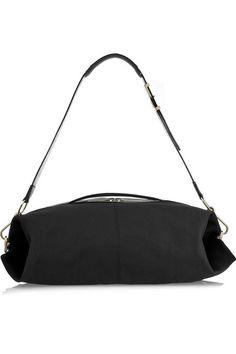 Victoria Beckham Oversized textured leather duffel bag