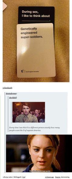 Cards Against Humanity + Captain America :) Hahahaha!!