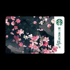 New Starbucks Sakura Taiwan 2016 Night Sakura Cherry Blossom Gift Card w Sleeve