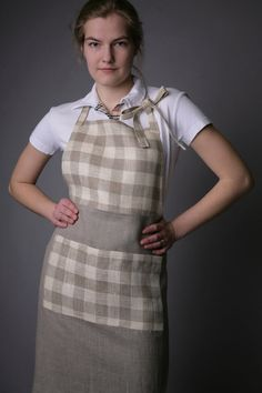 Hey, I found this really awesome Etsy listing at https://www.etsy.com/listing/99205914/pure-linen-apron-naturalchecked