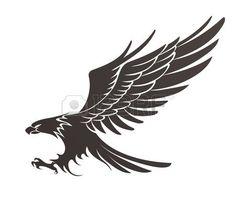 Tribal eagle tattoo silhouette stencil vinyl | Vinyl decor ideas ...
