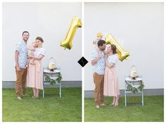 1st birthday celebrations with decorated Stokke Tripp Trapp Chair in aqua via Haizel Creations
