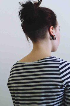 //: Not exactly DIY, but i'd love to cut my hair like this! :) Nape undercut. From http://shornnape.tumblr.com/