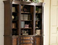 If I ever came into a windfall, this is the bookcase I want!  from Magnolia Hall-Made in the USA <3  Will probably need at least 2