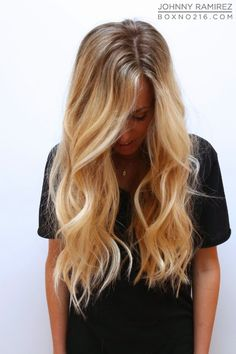 warm honey blonde with a very natural looking, subtle blonde base