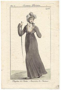 Horse riding habit. Costume parisien, an 11