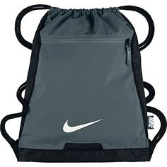 NIKE Alpha Adapt Team Training Drawstring Gymsack Navy: Men's Nike Alpha Gym Sack helps you organize your gear with an interior divider and bonded zip pocket. Water-resistant fabric with a PU-coated bottom keeps your essentials dry and secure. Alpha Gym, Tween Boy Gifts, Leather Handbags, Drawstring Backpack, Nike Men, Shopping Bag, Black White, Purses, Gallery