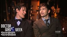 MATT SMITH & DAVID TENNANT Together, on the Honor of DOCTOR WHO - Exclus... The ending is the best part!
