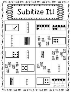 Subitize It FREEBIE for K and Grade - Kids education and learning acts Subitizing Activities, Kindergarten Math Activities, Preschool Math, Math Classroom, Numeracy, Math Games Grade 1, Number Sense Activities, Number Sense Kindergarten, 1st Grade Math Worksheets