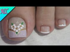 Pretty Toe Nails, Cute Toe Nails, Cute Toes, Pretty Toes, Toe Nail Art, Diy Nails, Nail Art Designs Videos, Nail Designs, Pedicure Designs
