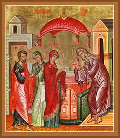The Presentation (Meeting) of the Lord in the Temple – Damascene Gallery Temple, Paint Icon, Russian Icons, Byzantine Icons, Holy Cross, Orthodox Icons, A Christmas Story, Kirchen, Religious Art