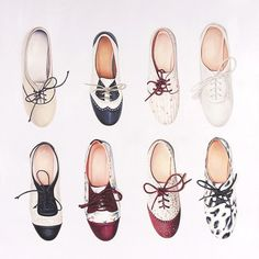 I love oxfords  They can come in so many different colors and patterns!