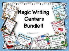 Here it is! 98 pages of FUN!!! Just supply white crayons and watercolors and watch the magic begin! Perfect for your writing centers!  In this set:  Fall Magic Writing Halloween Magic Writing December Magic Writing Non-Holiday December Magic Writing January Magic Writing February Magic Writing March Magic Writing April Magic Writing  Markers can be an optional color wash for coloring over the white traced letters.