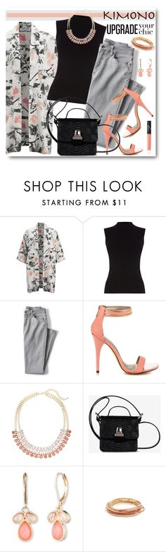 """Spring Kimono"" by brendariley-1 ❤ liked on Polyvore featuring Vero Moda, Oasis, Lands' End, Michael Antonio, Lane Bryant, MM6 Maison Margiela, Vintage America, GUESS and NARS Cosmetics"
