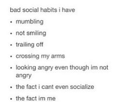 My bad social habits ;)
