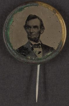 Summary: Political campaign button for 1864 presidential election showing bust portrait of Abraham Lincoln, facing left (Anthony Berger photo Feb. 9, 1864); metal casing with pin fastener attached. This is a photographic print from a high quality scan of the original. | eBay!