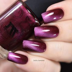 Masura - Silk Haze (Magnetic) - Whats Up Nails Get red-dy for stunning nails with this red magnetic polish complete with crimson undertones and red shimmer. Collection: Silky Way Gorgeous Colorful Nail Designs, Acrylic Nail Designs, Nail Art Designs, Pedicure Designs, Nails Design, Acrylic Nails, Salon Design, Matte Nails, Perfect Nails