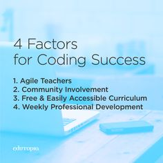 All Kids Can Code: 4 Factors for Success Coding For Kids, Digital Citizenship, Learn To Code, All Kids, Professional Development, Math Activities, Curriculum, Apd, Classroom