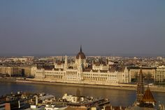 Budapest Parliament from Buda Castle - Hungary 2014