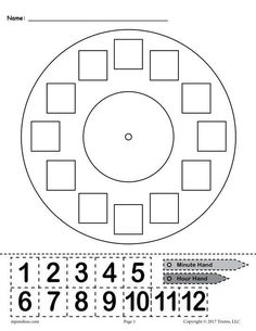 """Printable """"Build a Clock"""" Telling Time Activity! This free telling time worksheet is great for kindergartners, graders, and graders. The printable worksheet includes a clock face, an hour and minute hand, and hours that can be cut out. Clock Worksheets, Free Kindergarten Worksheets, Free Printable Worksheets, Kindergarten Math, Grade 1 Worksheets, Matching Worksheets, Money Worksheets, Free Preschool, Math Classroom"""