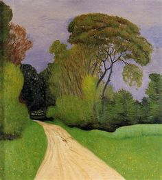 The Entrance to the Villa Beaulieu in Honfleur (also known as Before the Storm) - Felix Vallotton