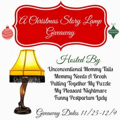Mommy Needs A Break: A Christmas Story Lamp GIVEAWAY!