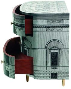 Piero Fornasetti, Palladiana chest of drawers Painted furniture Cabinet Furniture, Painted Furniture, Modern Furniture, Furniture Design, Furniture Stores, Painted Dressers, Furniture Repair, Deco Furniture, Furniture Online