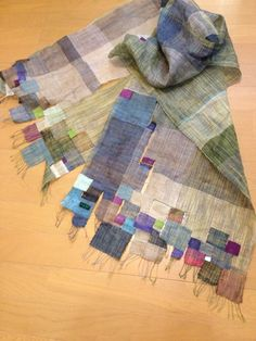 saori weaving - a feast of stitch and weave inspiration here