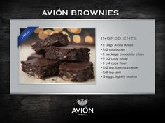 Elevate your sweet side with our Avión Brownies. ( #brownies, #dessert, #recipe, #recipes, #cooking, #homecooking, #chocolate, #tequila, #tequilaavion, #sweet )