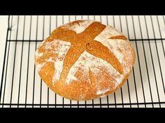 Pâine fără frământare cu făină integrală și plămădeală din drojdie de casă - YouTube Pastry And Bakery, Bread Recipes, Cooking, Youtube, Pizza, Videos, Kitchen, Kitchens, Cucina