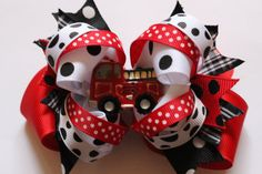 Hey, I found this really awesome Etsy listing at https://www.etsy.com/listing/178021576/baby-headband-fire-engine-fire-truck