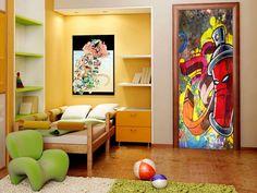 Tapeten - Türtapete GRAFFITI 100x210 101005-11 - ein Designerstück von design4art bei DaWanda