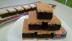 Řezy s pořádnou dávkou máku | NejRecept.cz Pavlova, Bakery, Cheesecake, Bread, Desserts, Food, Tailgate Desserts, Deserts, Cheese Cakes