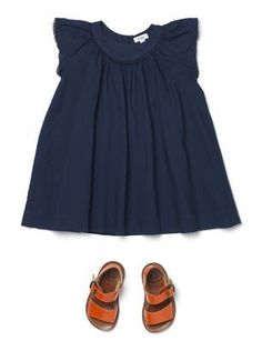 navy dress and sandals