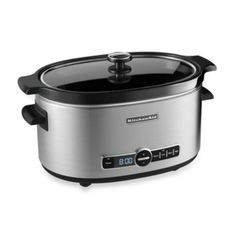 KitchenAid® 6-Quart Slow Cooker with Glass Lid - BedBathandBeyond.com