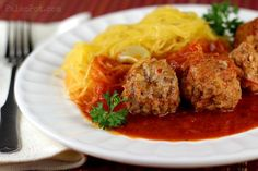 Stupid Easy Paleo Spaghetti Squash & Meatballs : PaleoPot – Paleo Recipes For Your Crock Pot & Slow Cooker