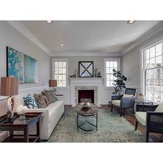 Love this room! This is from one of my favorite renovated houses in Durham  #realtor #realestate #renovation #durham #bullcity #durhamnc #homedecor #staging #dreamhome #bestofthebull
