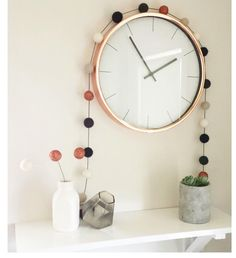 Oh So Busy Mum's Top 20 Homewares At Kmart Australia - Copper Geo Candle Holder, Copper Clock, Lightbox, Glass Pendant Light & Plant Pouches.