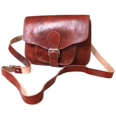 leather square saddle bag by 3b leather goods | notonthehighstreet.com