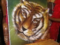 gros chat (acrylique)