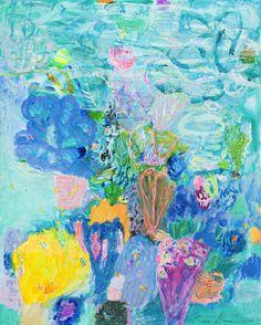 Turquoise Coral Head II, by Ken Done Kunst Inspo, Art Inspo, Art And Illustration, Art Hoe, Australian Artists, All Art, Art Lessons, Making Ideas, Art Gallery