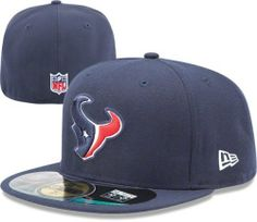 NFL Mens Houston Texans On Field 5950 Navy Game Cap By New Era by New Era 5632ce4c548