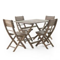 Positano 5pc Square Acacia Wood Patio Foldable Dining Set - Christopher Knight Home : Target Contemporary Outdoor Furniture, Outdoor Dining Furniture, Outdoor Dining Set, Patio Dining, Outdoor Chairs, Dining Sets, Contemporary Style, Pergola Swing, Pergola With Roof