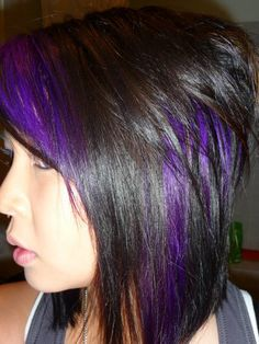 one day i will have a purple highlight in my hair!! hehehe