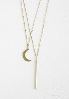 Wane or Shine Necklace. You can have both with this tiered gold necklace!  #modcloth
