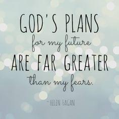 God's plans for me